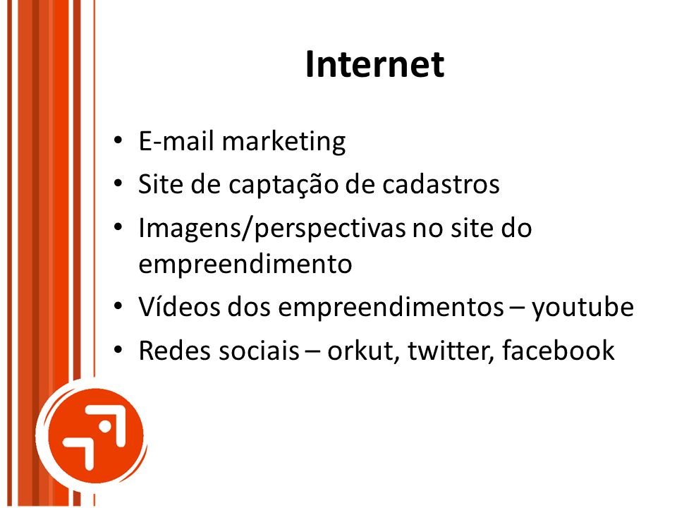 Internet  marketing Site de captação de cadastros