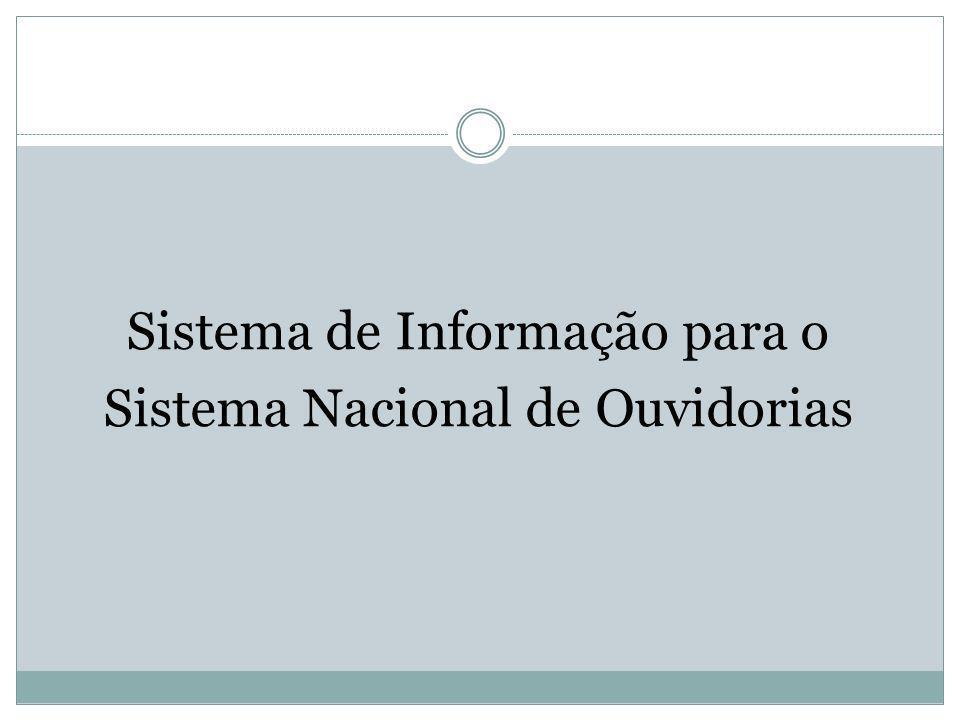 Sistema de Informação para o Sistema Nacional de Ouvidorias