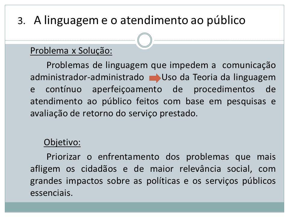 A linguagem e o atendimento ao público