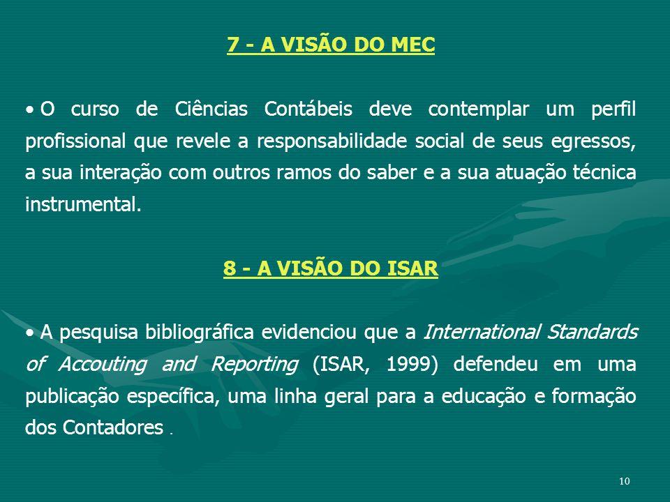 7 - A VISÃO DO MEC