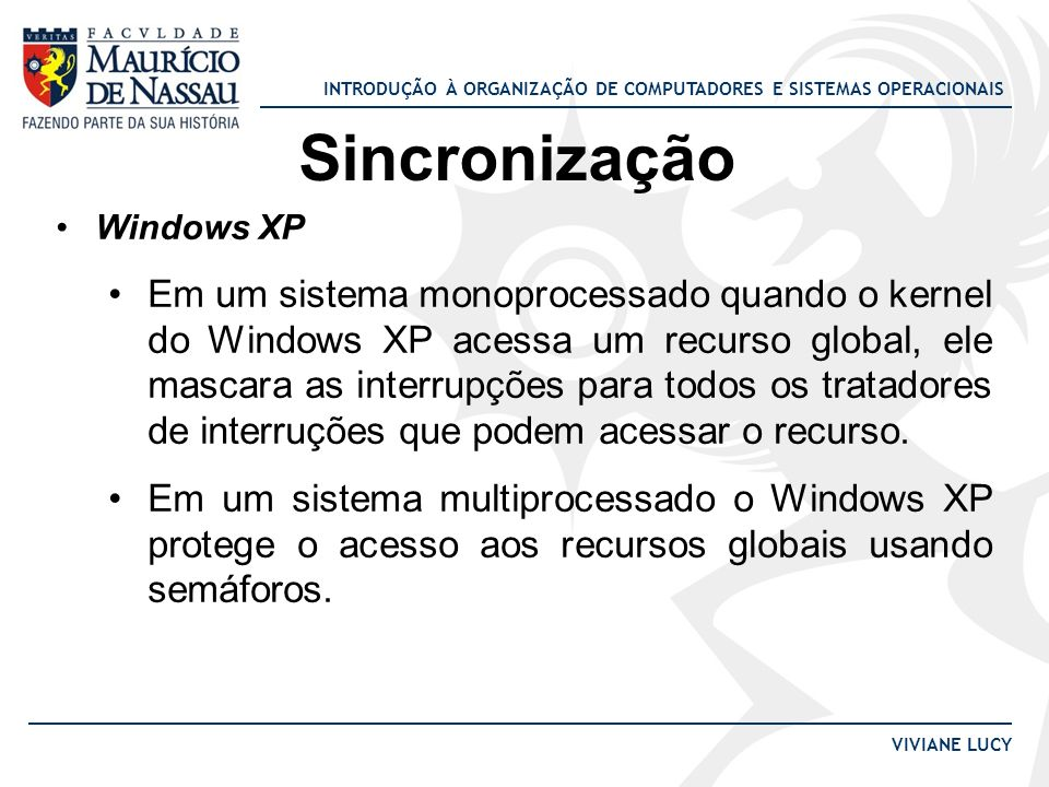 Sincronização Windows XP.