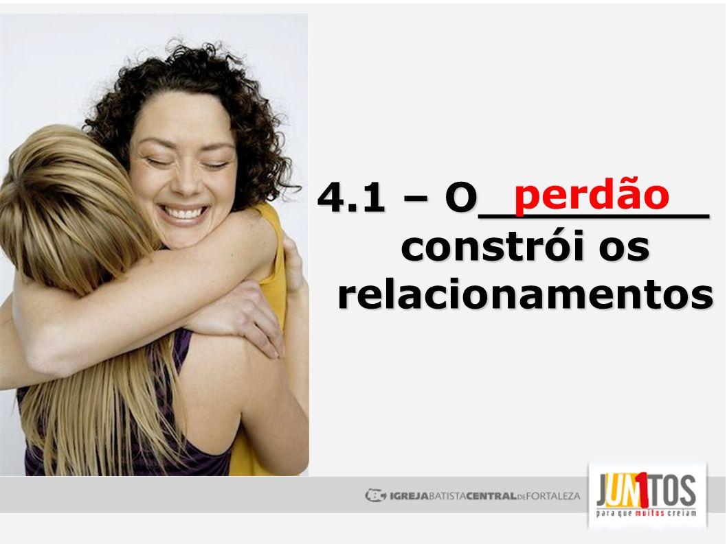 4.1 – O________ constrói os relacionamentos