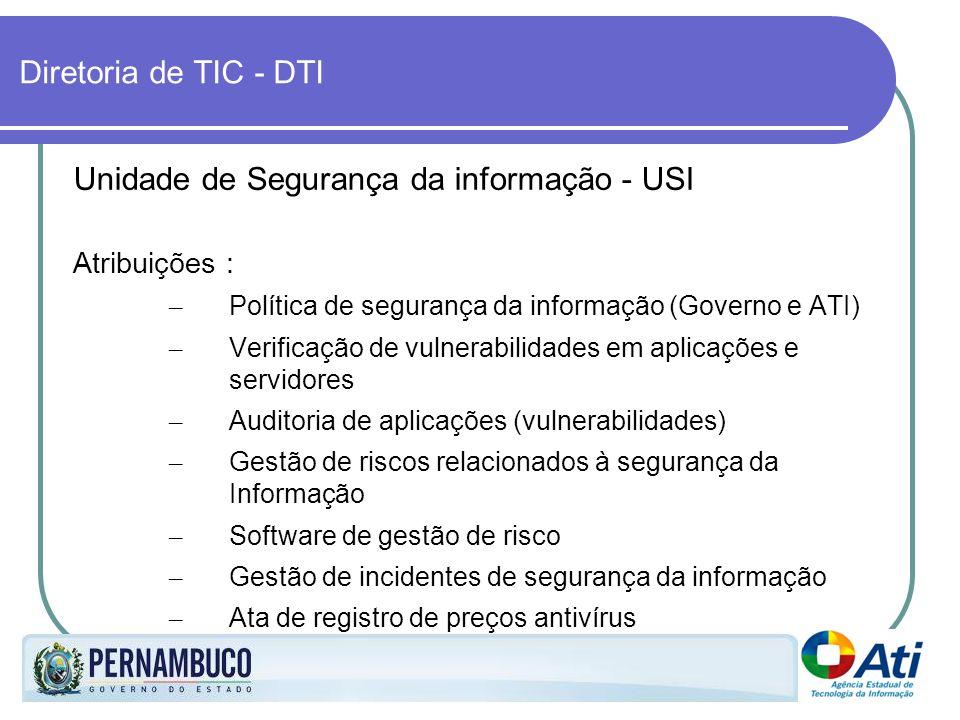 Unidade de Segurança da informação - USI