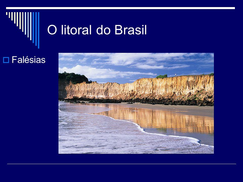 O litoral do Brasil Falésias