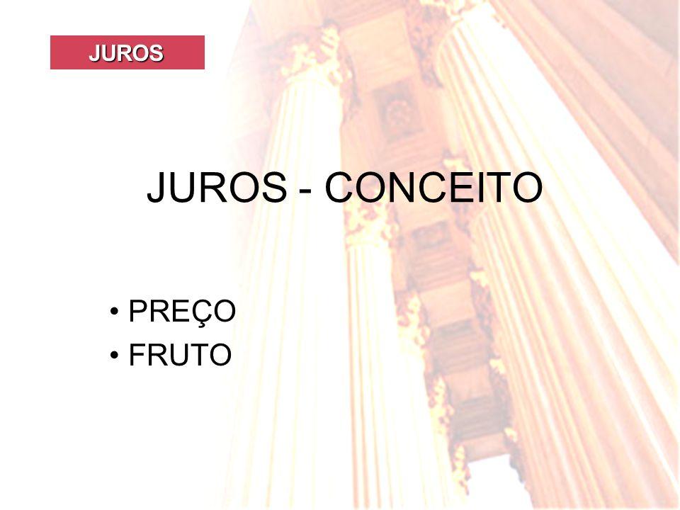 JUROS JUROS - CONCEITO PREÇO FRUTO