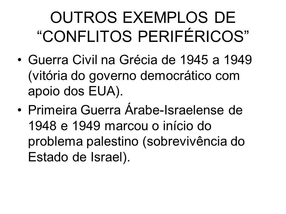 OUTROS EXEMPLOS DE CONFLITOS PERIFÉRICOS