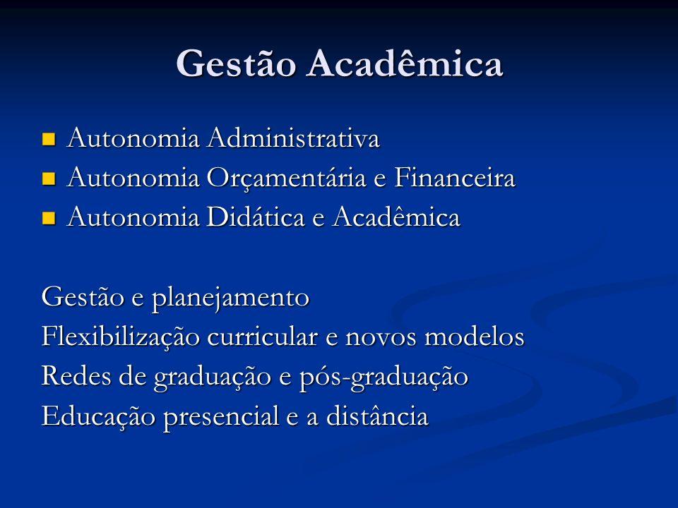 Gestão Acadêmica Autonomia Administrativa