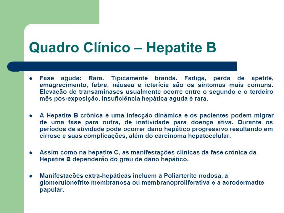 Quadro Clínico – Hepatite B