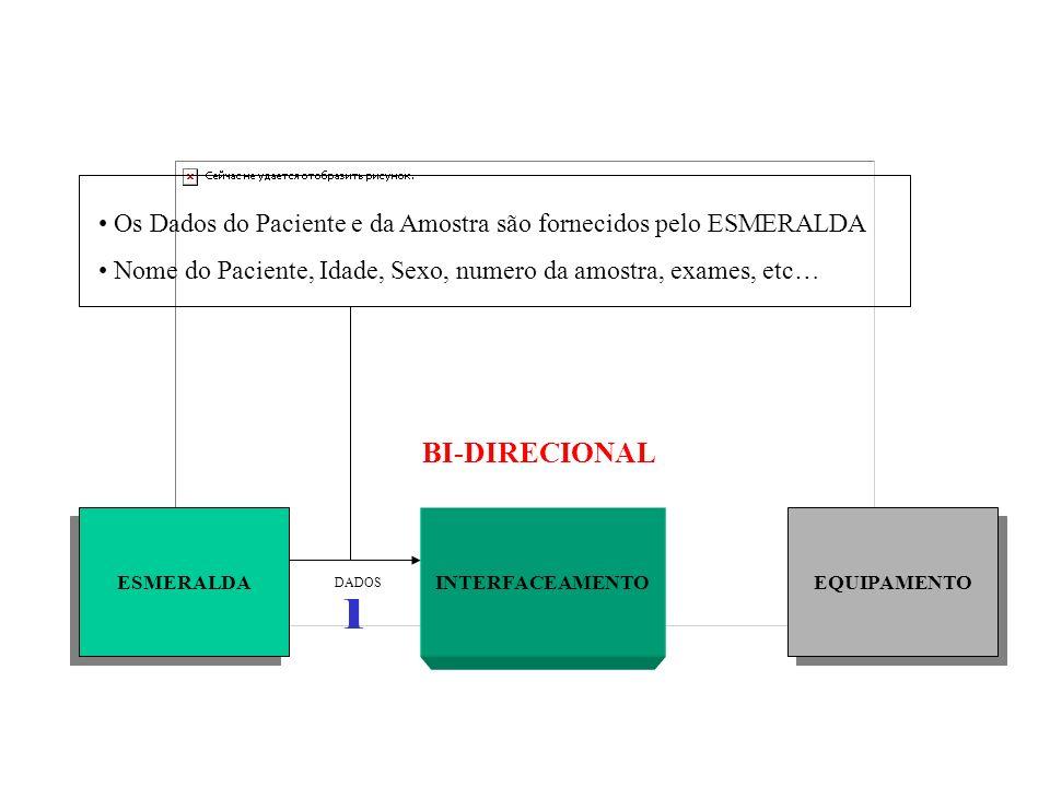 Os Dados do Paciente e da Amostra são fornecidos pelo ESMERALDA