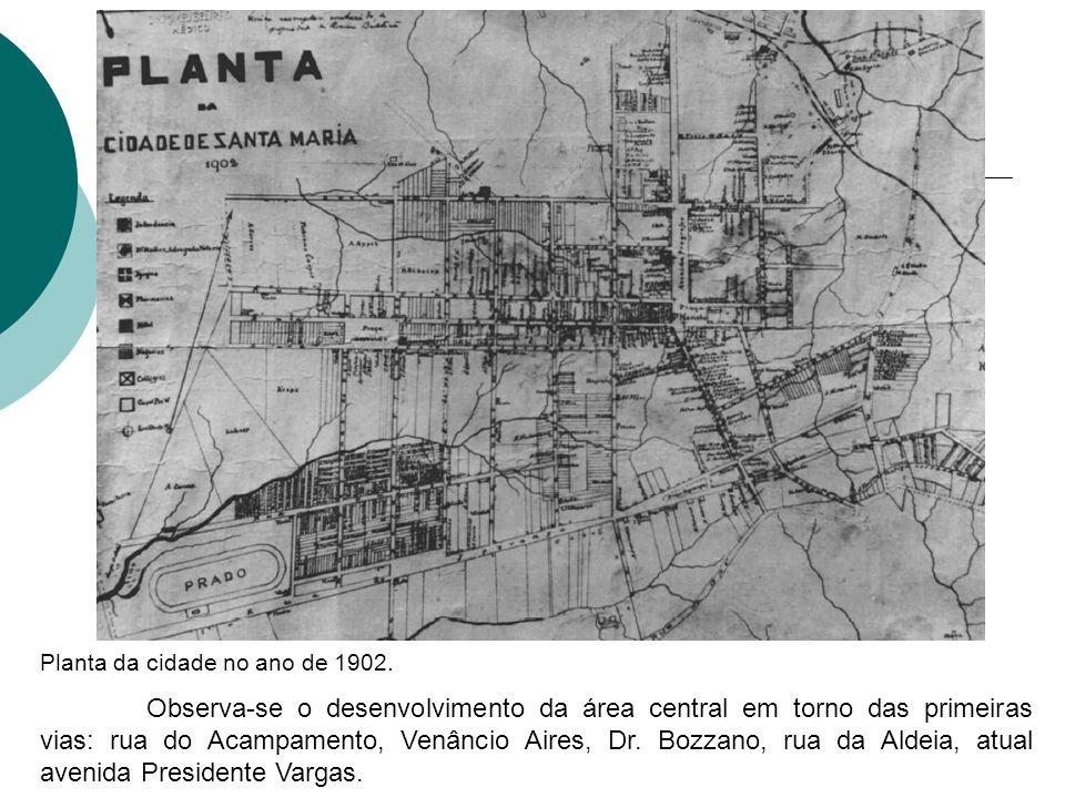 Planta da cidade no ano de 1902.