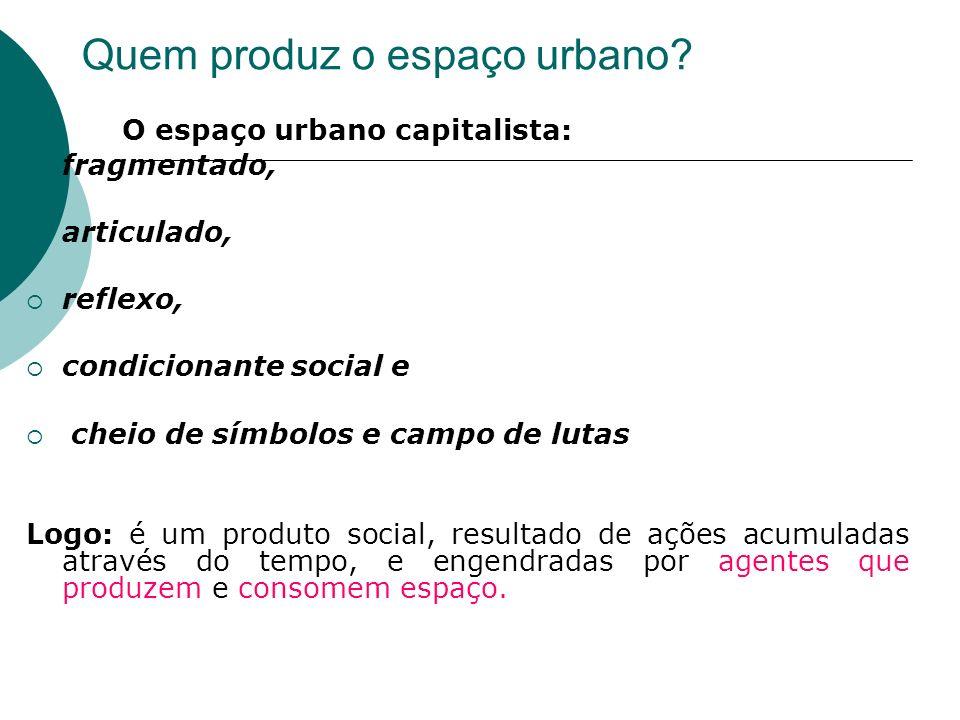 Quem produz o espaço urbano