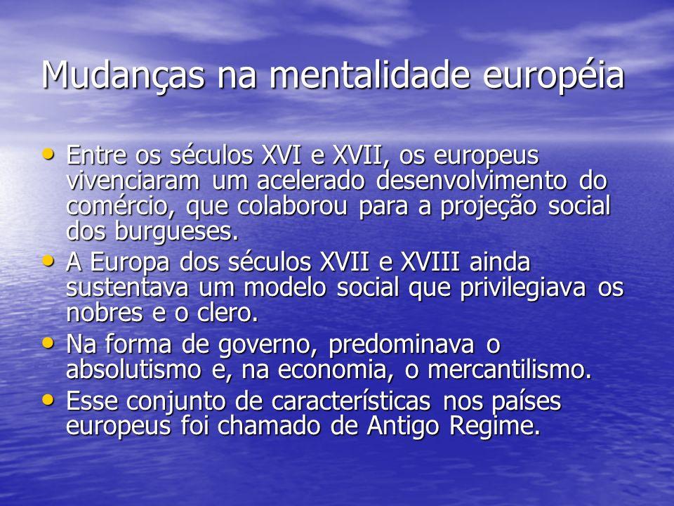 Mudanças na mentalidade européia