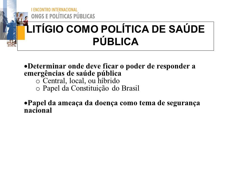 LITÍGIO COMO POLÍTICA DE SAÚDE PÚBLICA