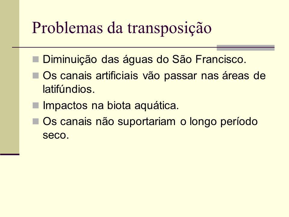 Problemas da transposição