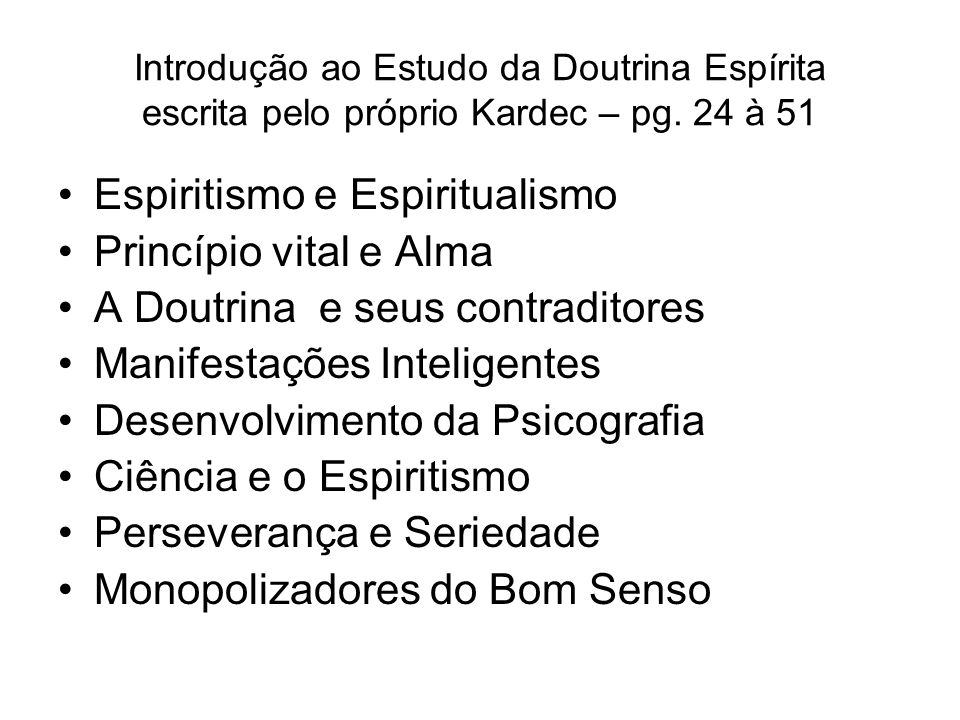 Espiritismo e Espiritualismo Princípio vital e Alma