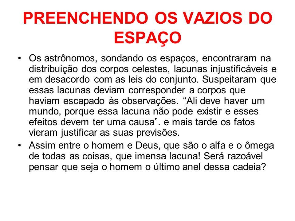 PREENCHENDO OS VAZIOS DO ESPAÇO