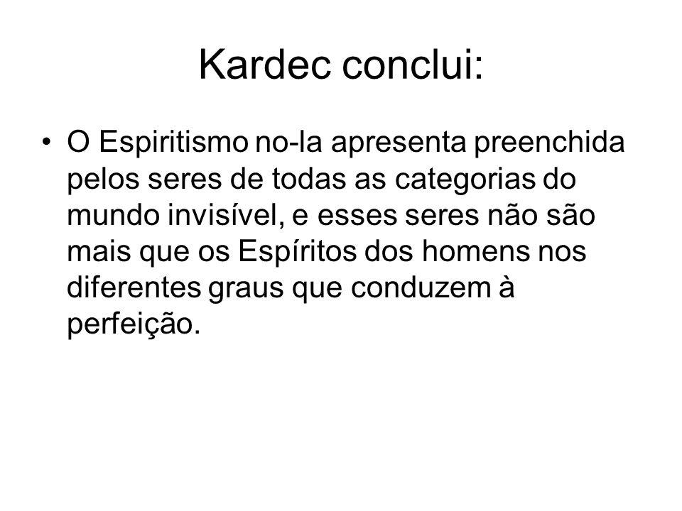 Kardec conclui: