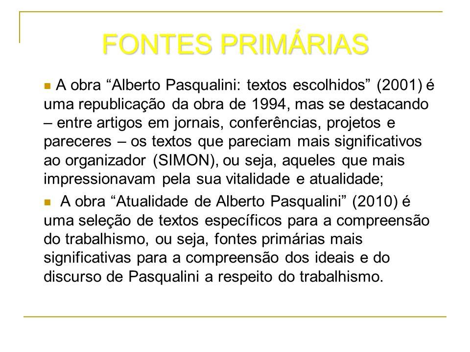 FONTES PRIMÁRIAS