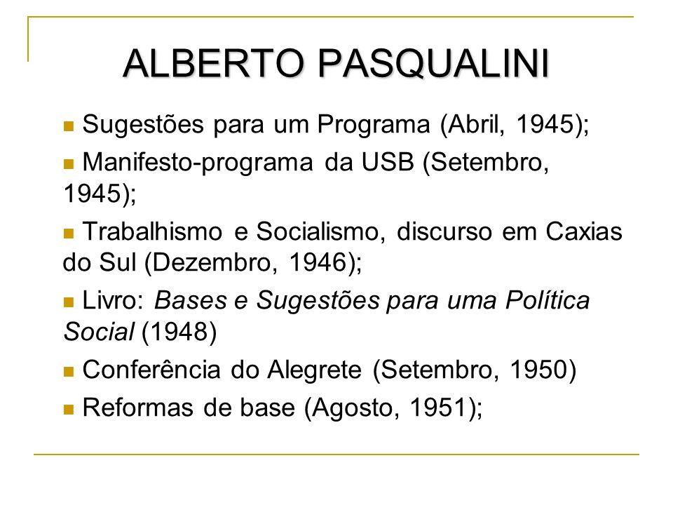 ALBERTO PASQUALINI Sugestões para um Programa (Abril, 1945);