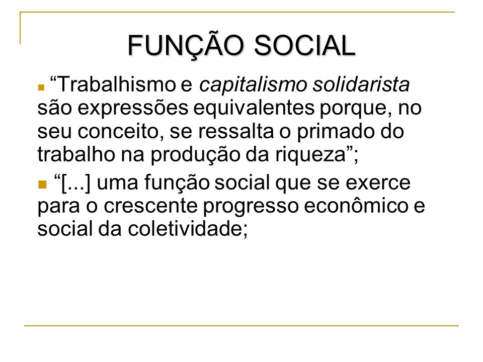 FUNÇÃO SOCIAL