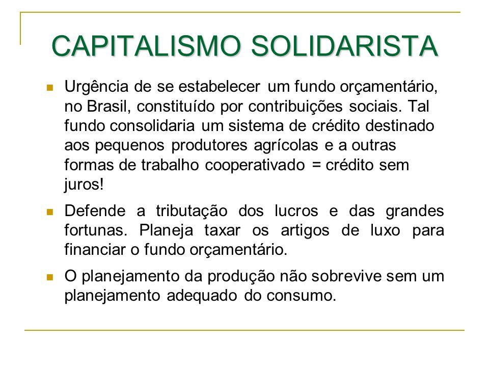 CAPITALISMO SOLIDARISTA