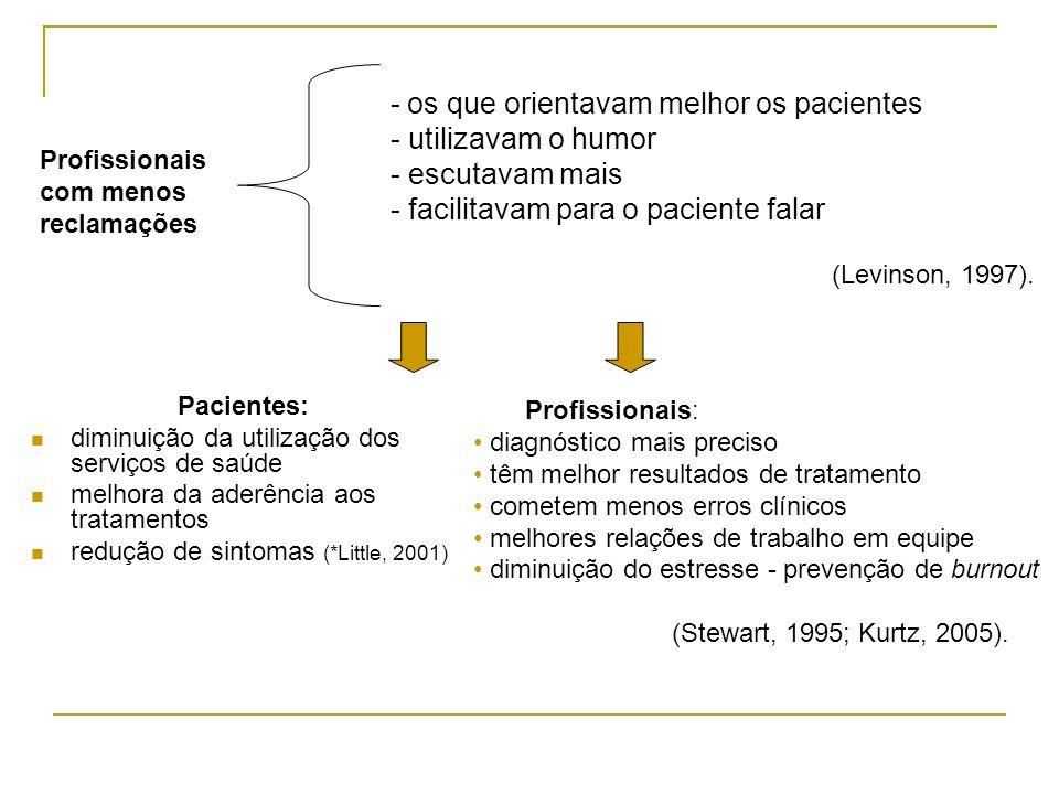 - os que orientavam melhor os pacientes - utilizavam o humor