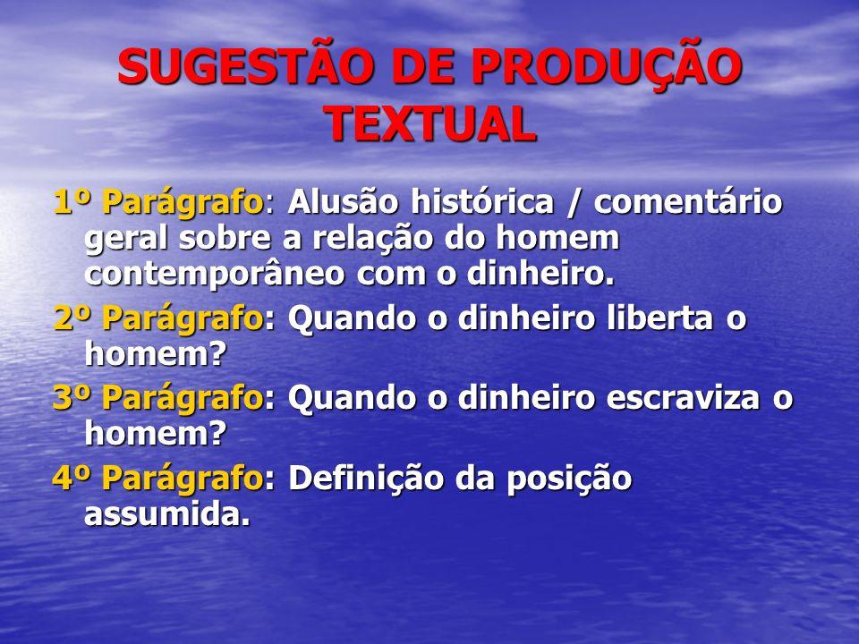 SUGESTÃO DE PRODUÇÃO TEXTUAL