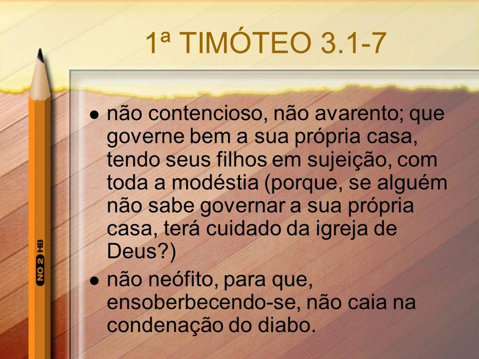 1ª TIMÓTEO 3.1-7