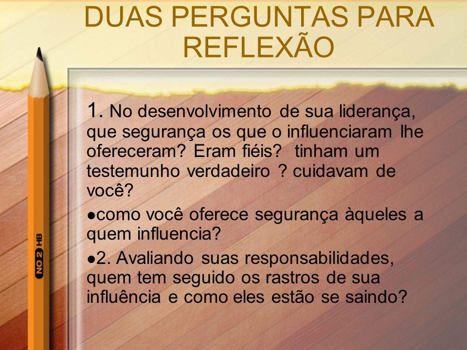 DUAS PERGUNTAS PARA REFLEXÃO
