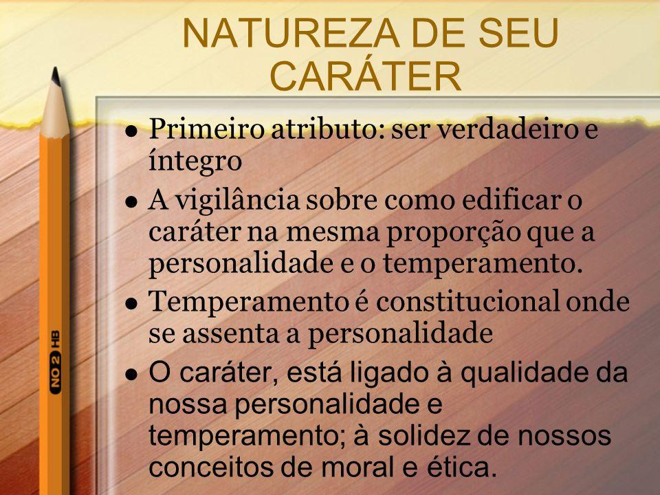 NATUREZA DE SEU CARÁTER