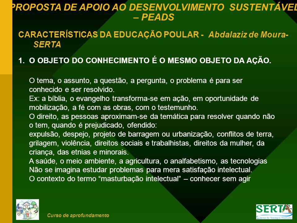 CARACTERÍSTICAS DA EDUCAÇÃO POULAR - Abdalaziz de Moura- SERTA
