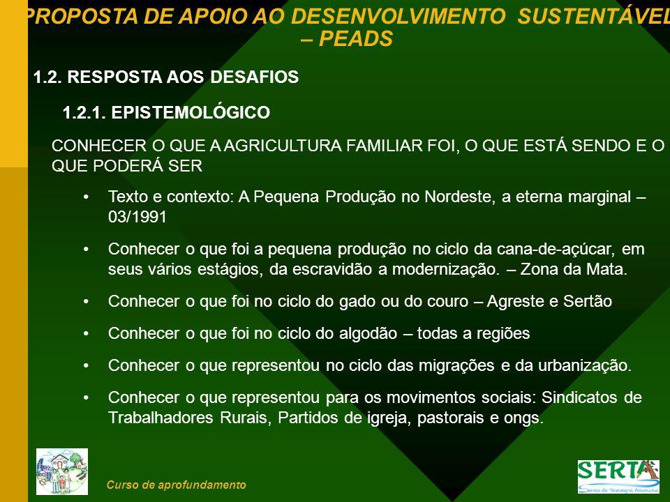 1.2. RESPOSTA AOS DESAFIOS 1.2.1. EPISTEMOLÓGICO