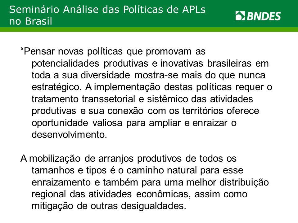 Seminário Análise das Políticas de APLs no Brasil