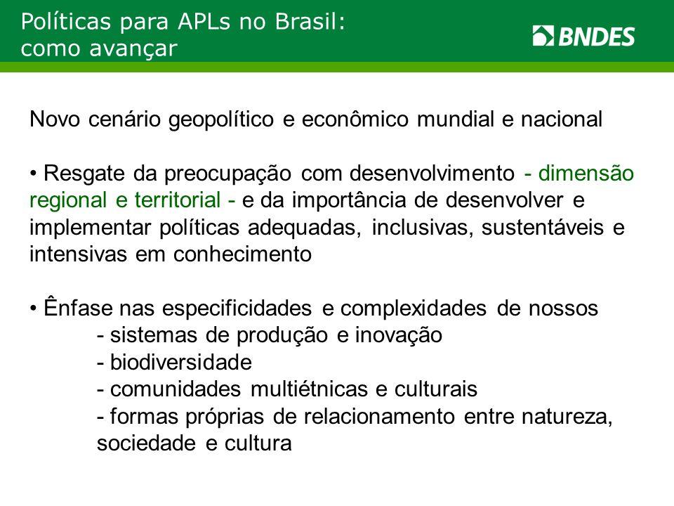 Políticas para APLs no Brasil: como avançar