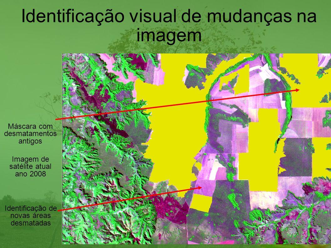 Identificação visual de mudanças na imagem