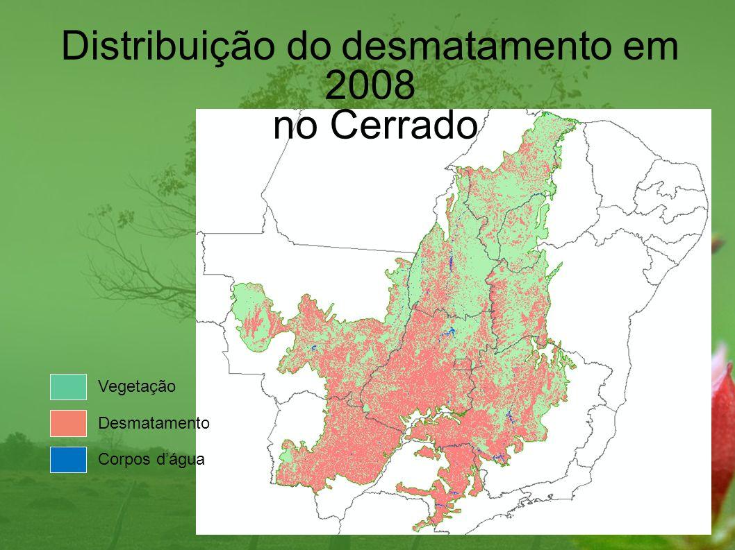 Distribuição do desmatamento em 2008