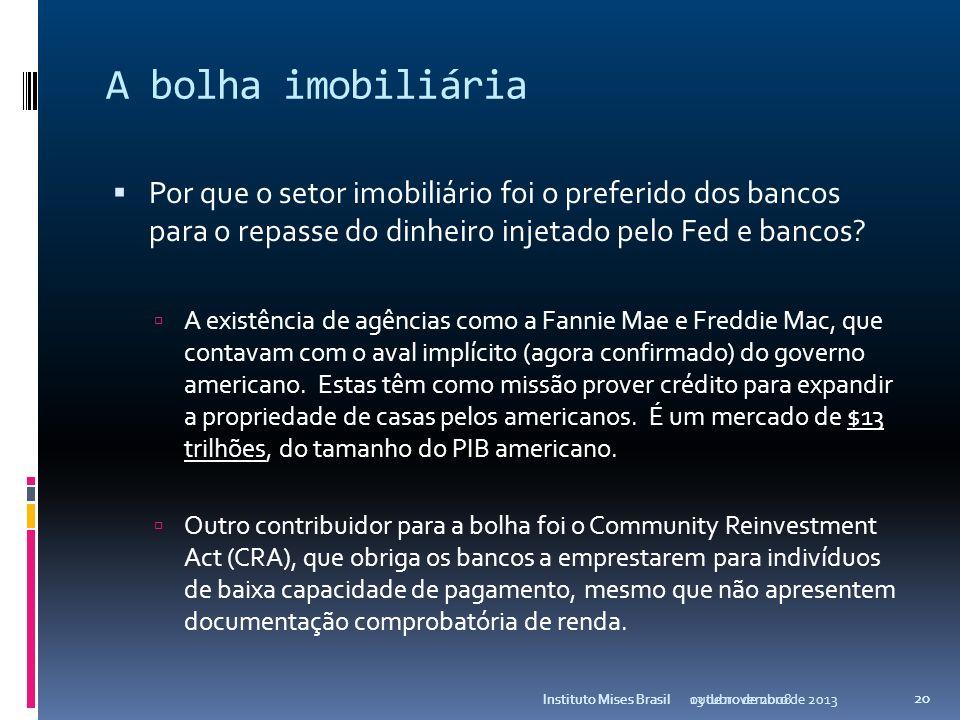 A bolha imobiliária Por que o setor imobiliário foi o preferido dos bancos para o repasse do dinheiro injetado pelo Fed e bancos