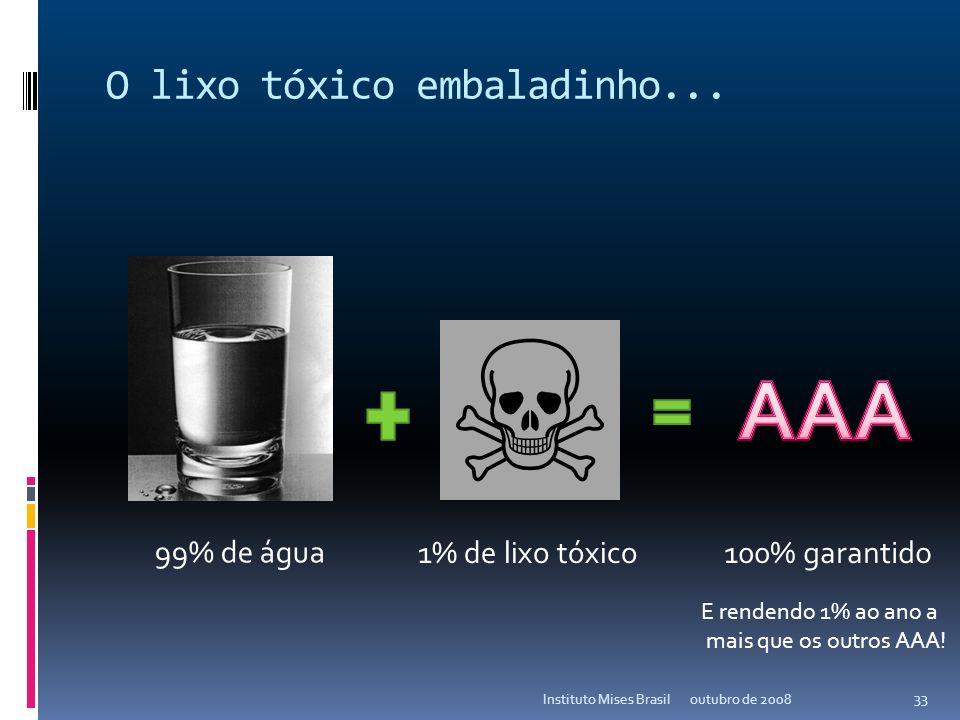 O lixo tóxico embaladinho...