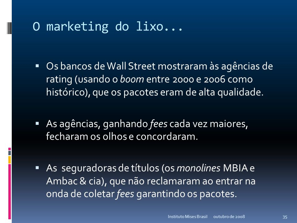 O marketing do lixo...