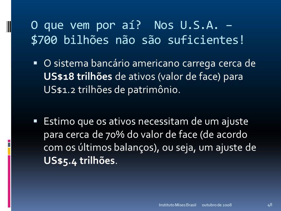 O que vem por aí Nos U.S.A. – $700 bilhões não são suficientes!