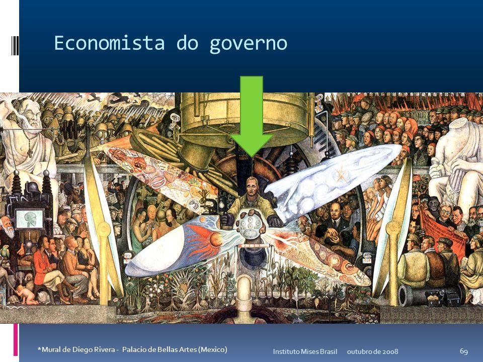 Economista do governo Instituto Mises Brasil. outubro de 2008.