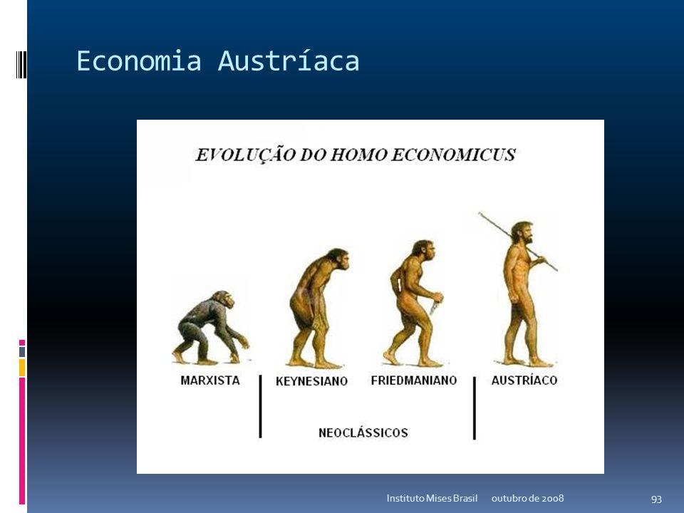 Economia Austríaca Instituto Mises Brasil outubro de 2008