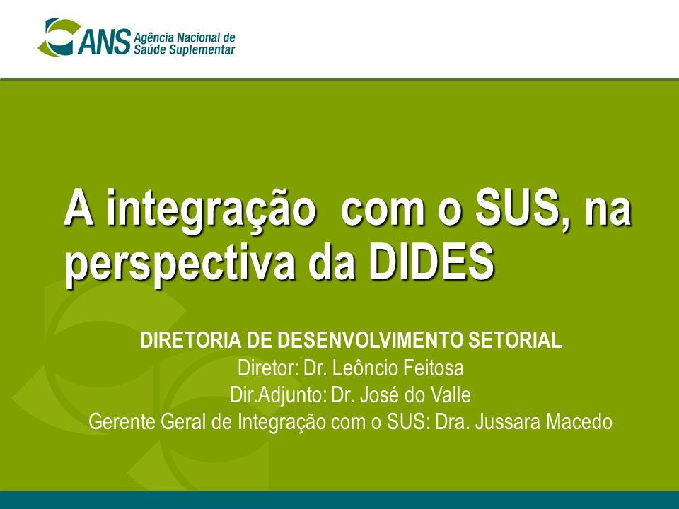 A integração com o SUS, na perspectiva da DIDES