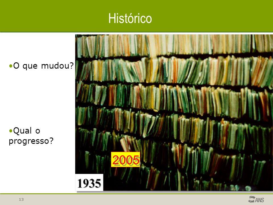 Histórico 2005 O que mudou Qual o progresso