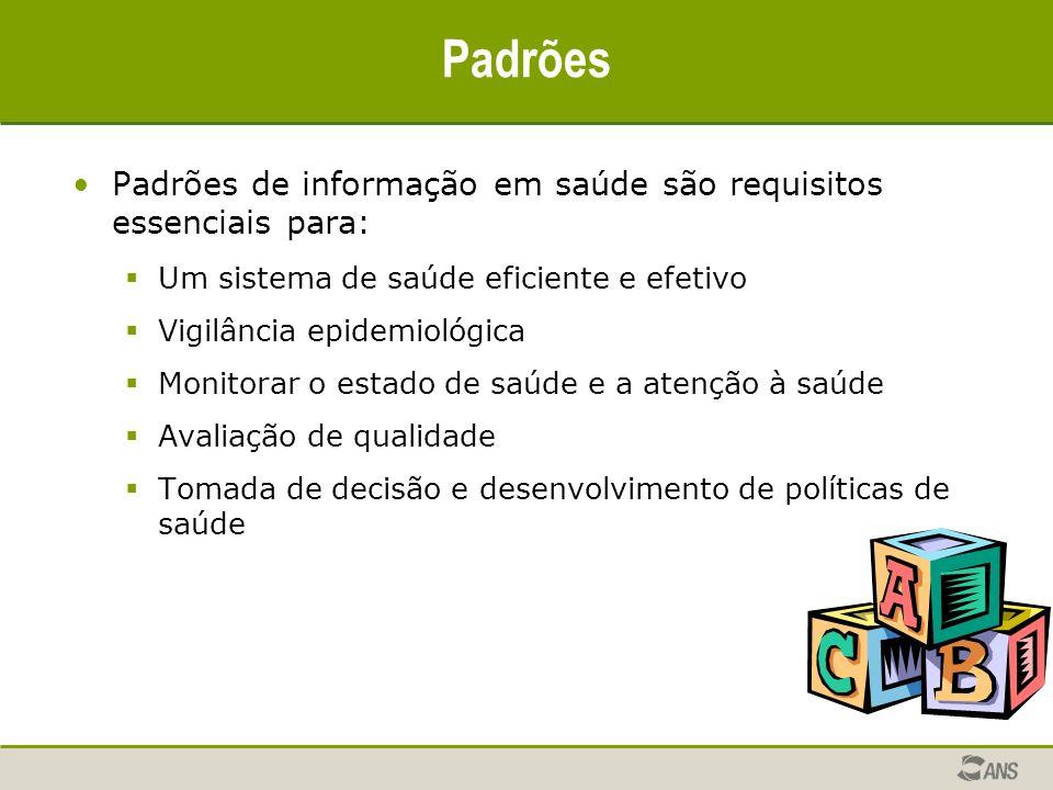 Padrões Padrões de informação em saúde são requisitos essenciais para: