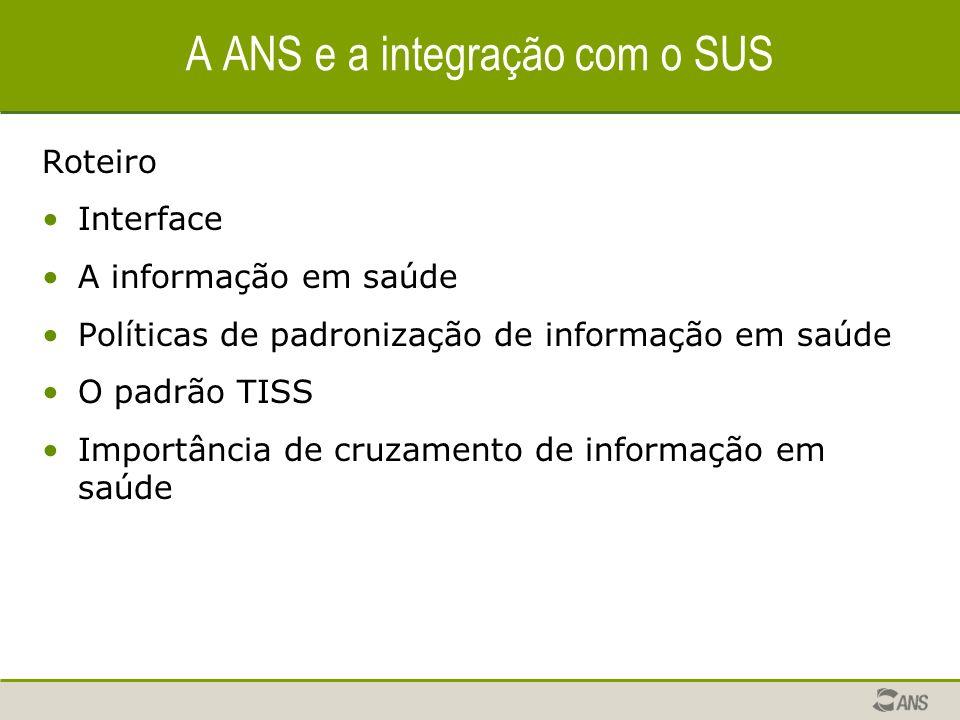 A ANS e a integração com o SUS