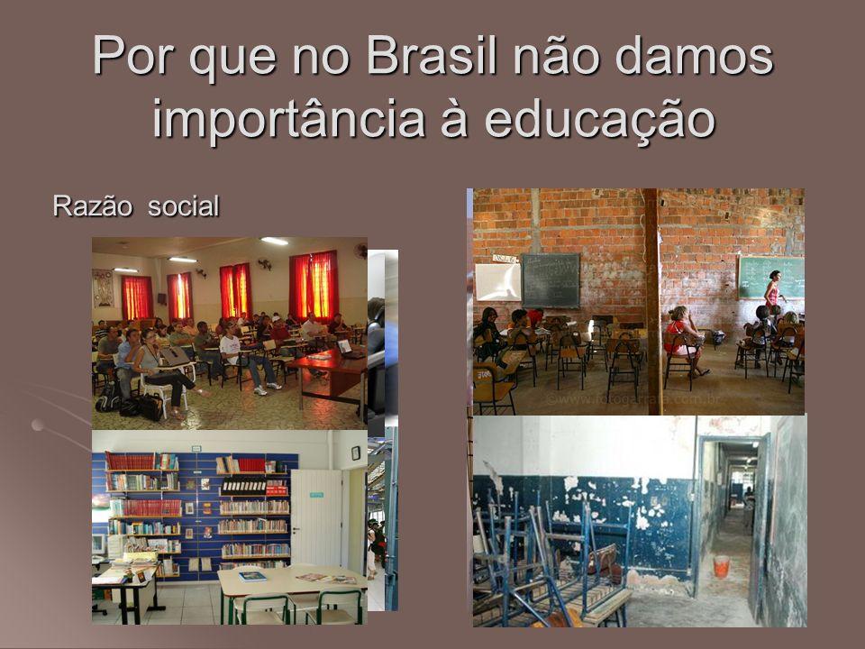 Por que no Brasil não damos importância à educação