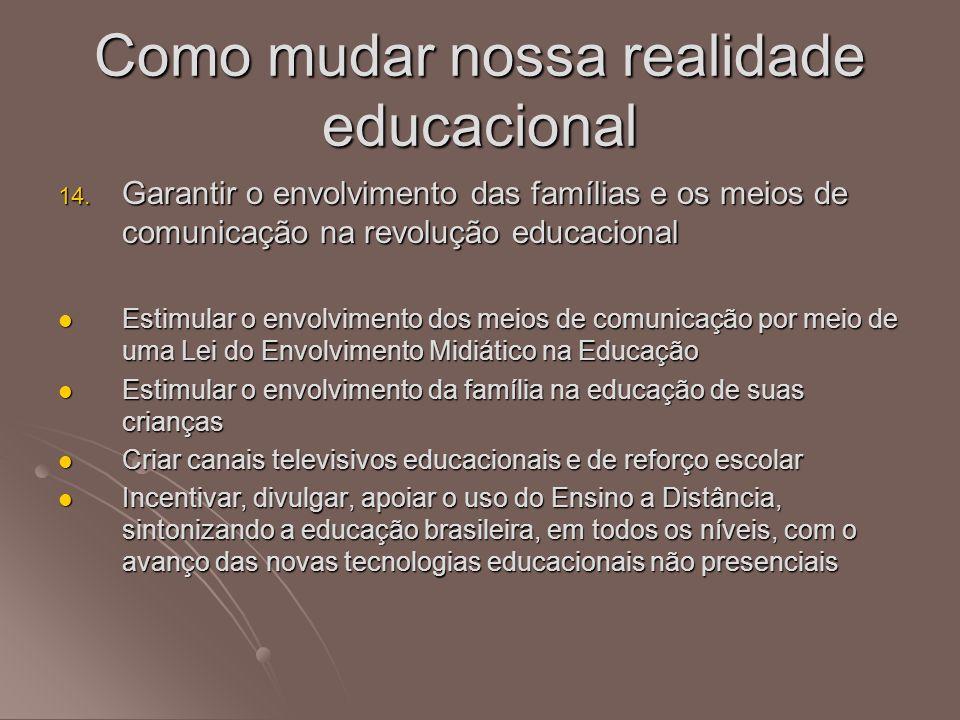Como mudar nossa realidade educacional