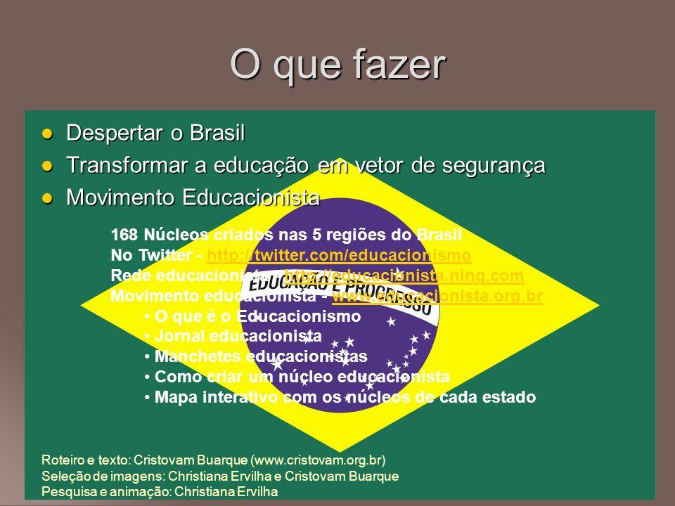 O que fazer Despertar o Brasil