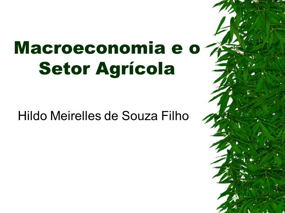 Macroeconomia e o Setor Agrícola